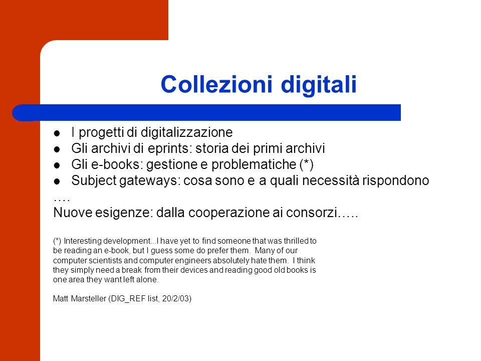Biblioteca digitale = integrazione