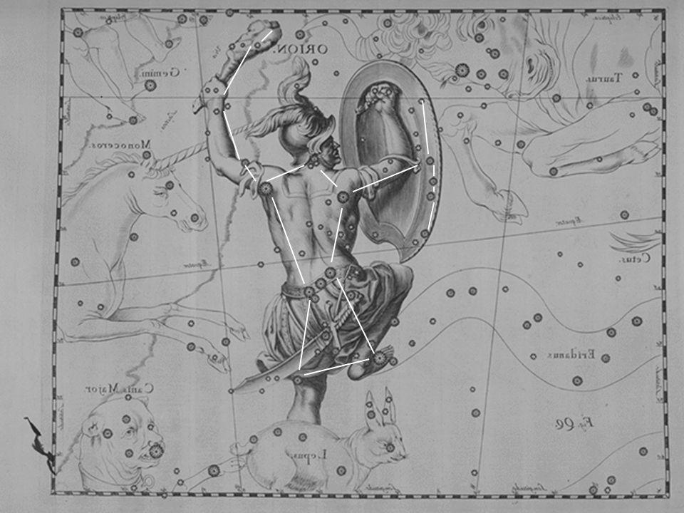 Betelgeuse Rigel Spada di Orione Cintura di Orione