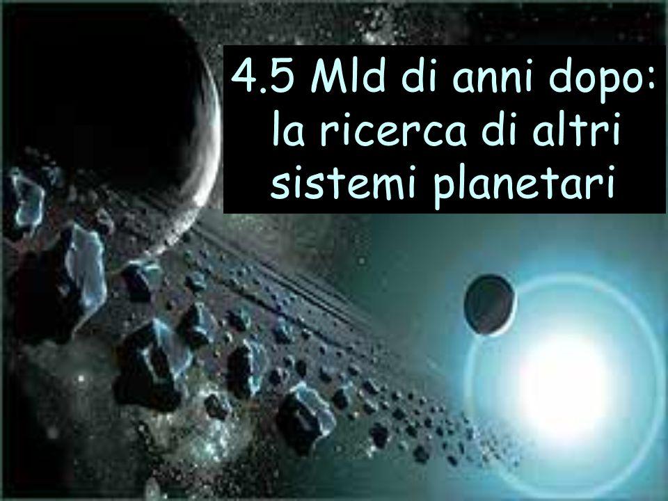 4.5 Mld di anni dopo: la ricerca di altri sistemi planetari