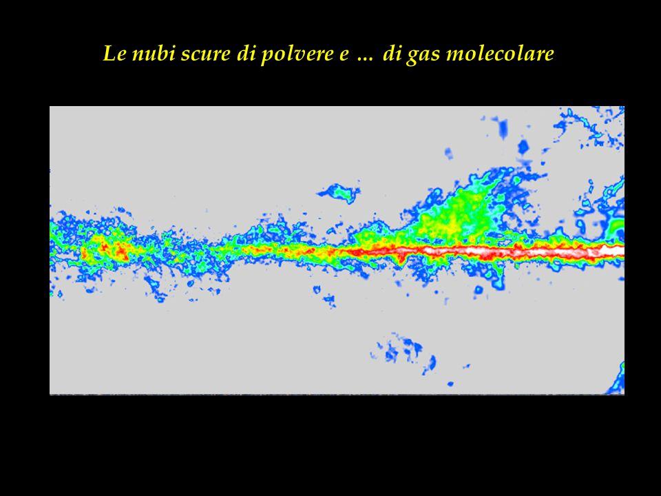 Le nubi scure di polvere e … di gas molecolare
