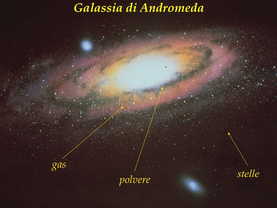 stelle gas polvere Galassia di Andromeda