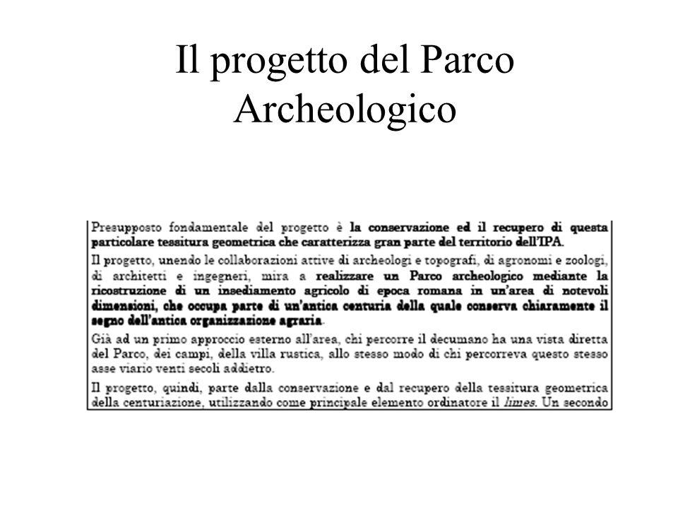 Il progetto del Parco Archeologico