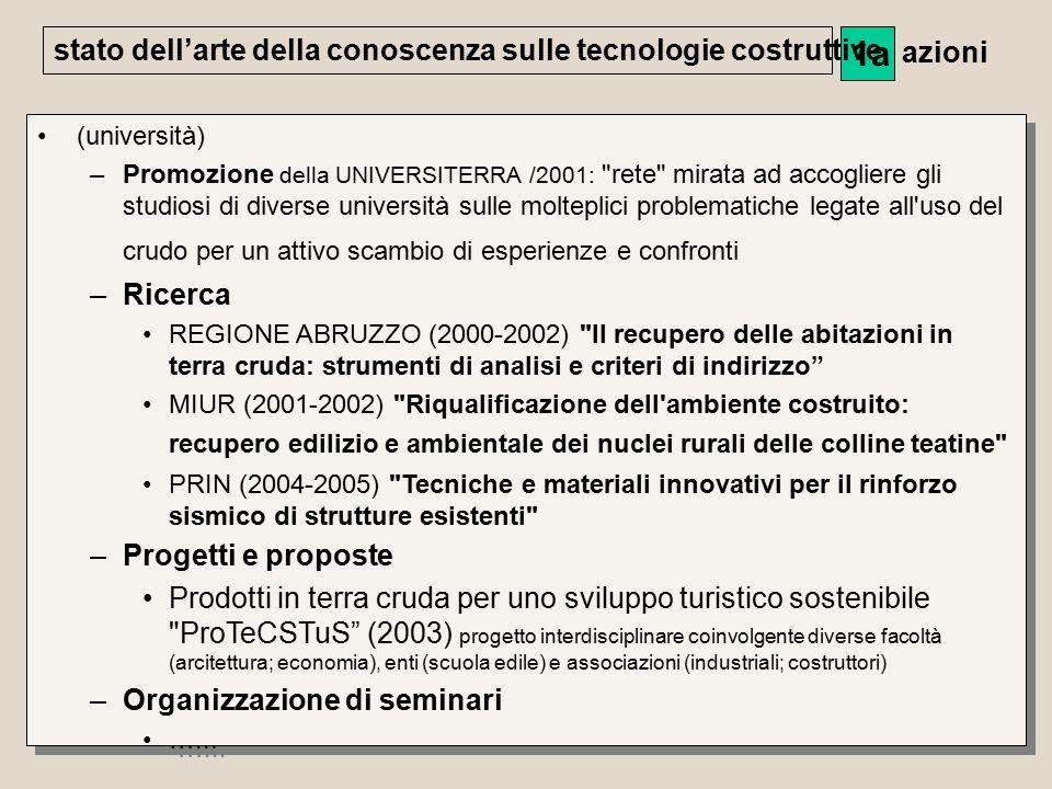 (università) –Promozione della UNIVERSITERRA /2001: