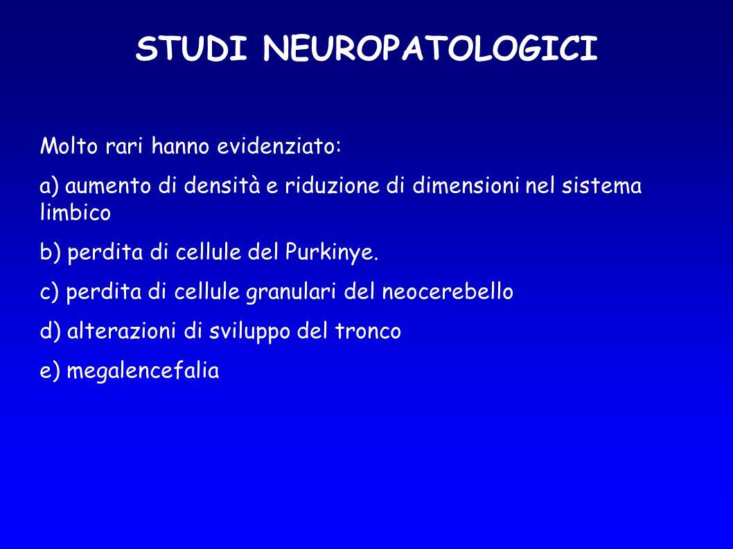 STUDI NEUROPATOLOGICI