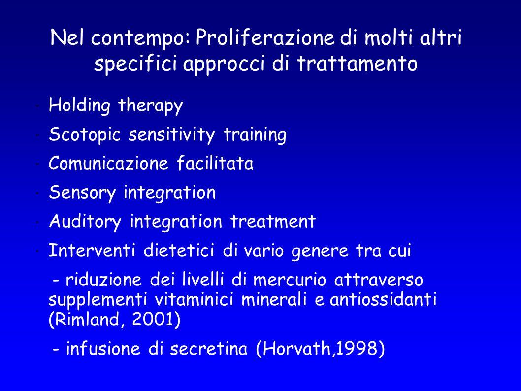 Nel contempo: Proliferazione di molti altri specifici approcci di trattamento