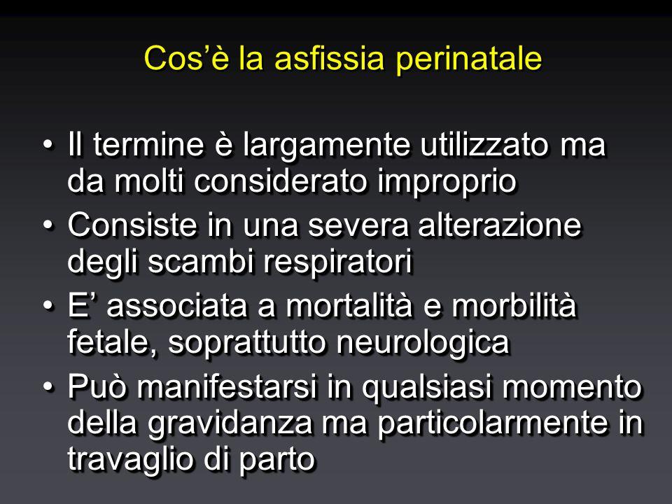 Cos'è la asfissia perinatale Il termine è largamente utilizzato ma da molti considerato improprioIl termine è largamente utilizzato ma da molti consid