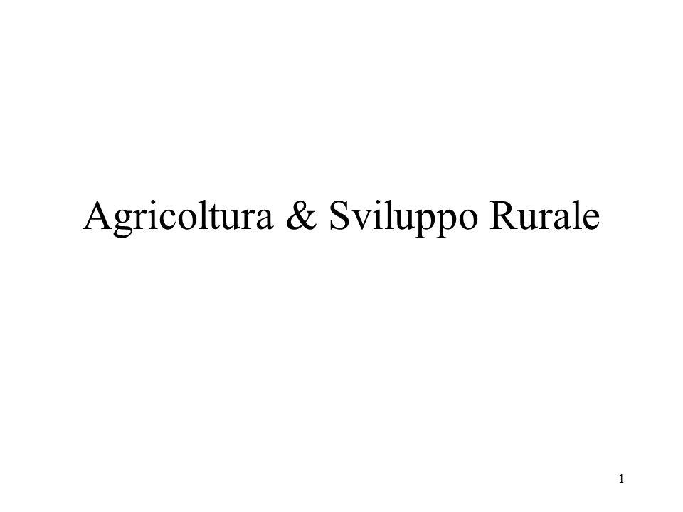 1 Agricoltura & Sviluppo Rurale