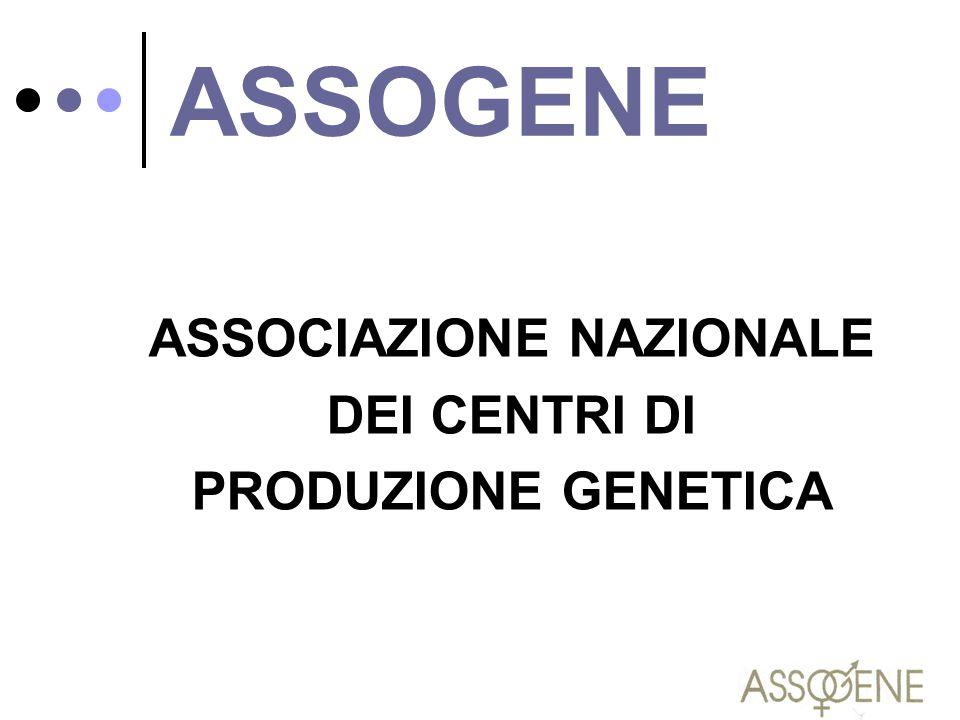 ASSOCIAZIONE NAZIONALE DEI CENTRI DI PRODUZIONE GENETICA ASSOGENE