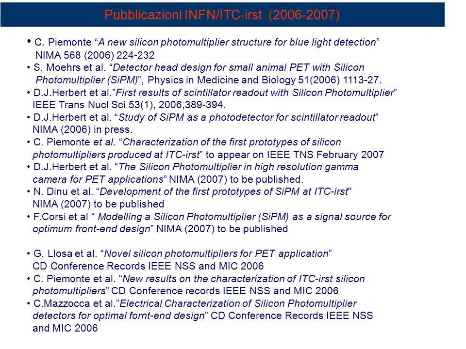 Pubblicazioni INFN/ITC-irst (2006-2007) C.
