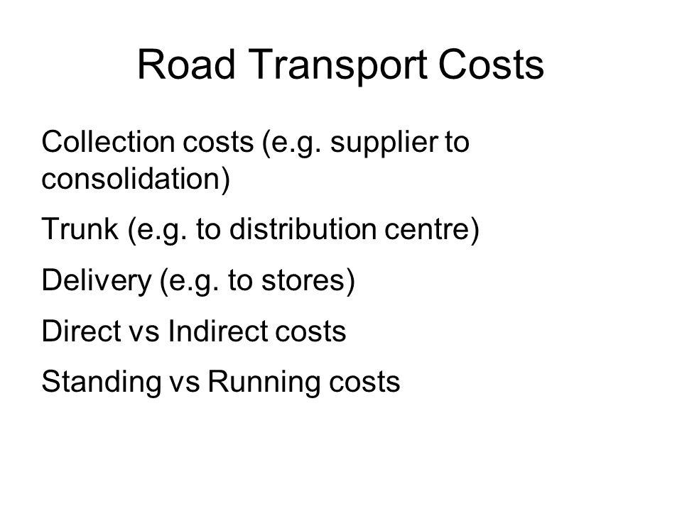 Il costo del trasporto ferroviario Parametri Km anno di una motrice120.000 Km medi a vuoto20% Costo di una motrice (k€)2000 Periodo ammortamento (a)25 Tasso di ammortamento10% Salari (k€/a)32,7 Manutenzione*60% Consumi energetici*3% * Rispetto al costo di produzione