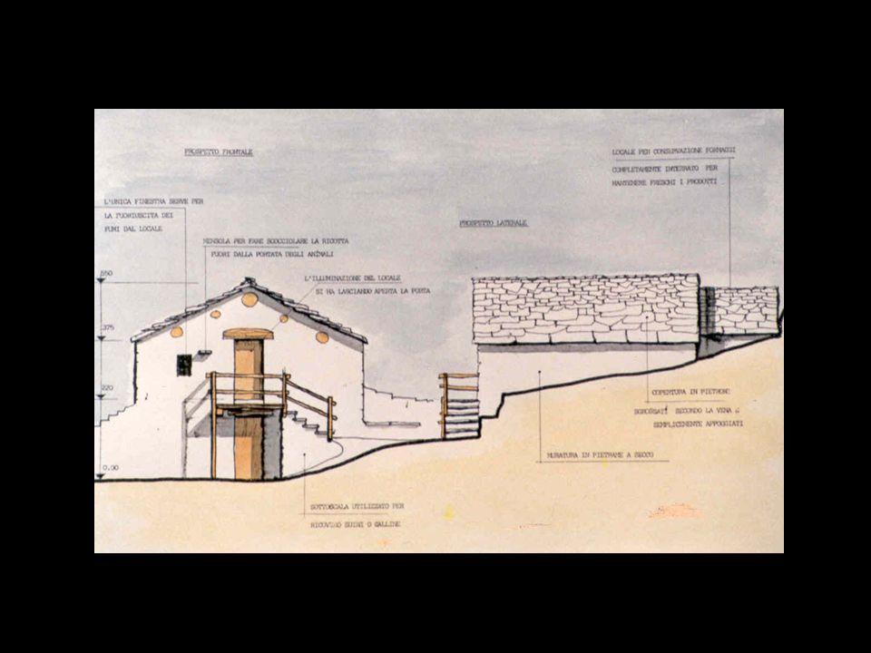 Vi erano inoltre dei caselli comuni adibiti alla conservazione del latte all'interno dei quali scorreva l'acqua, portata da appositi canaletti, che ma