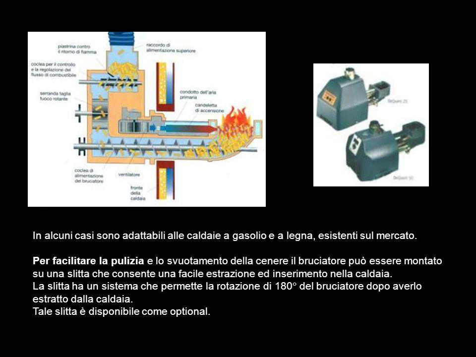 Potenza nominale: 15 - 20 - 25 kW 35 - 40 - 50 kW Massa: 23 Kg Tensione di alimentazione: 230 V Dimensione dei Pellet: 6 - 8 mm Contenuto cenere del pellet: 0.5% Lunghezza (ester.