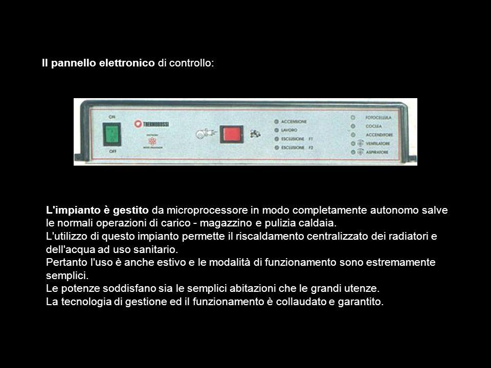 Il tubo di caricamento ha la caratteristica di conservare temperature molto basse, pur avendo nelle vicinanze la presenza dei prodotti della combustione.