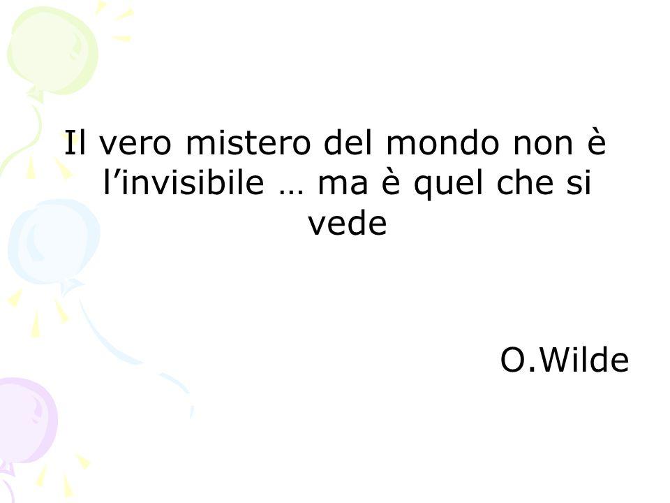 Il vero mistero del mondo non è l'invisibile … ma è quel che si vede O.Wilde