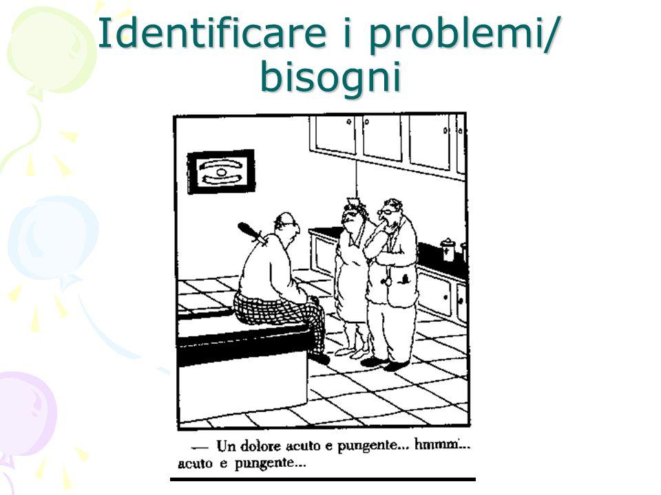 Identificare i problemi/ bisogni