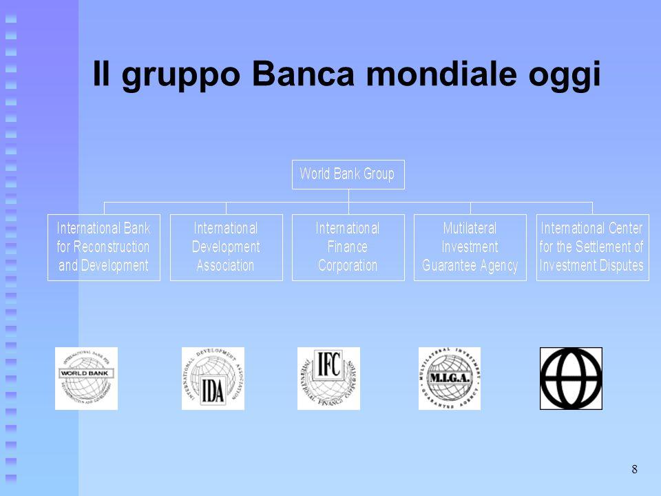 8 Il gruppo Banca mondiale oggi