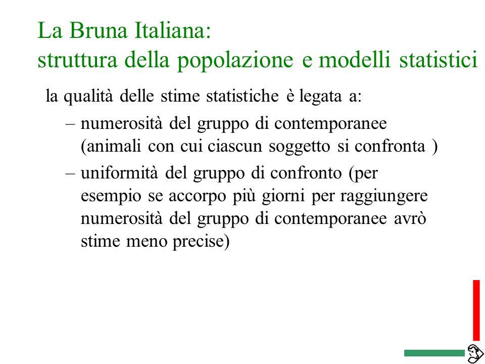 La Bruna Italiana: struttura della popolazione e stime genetiche Calcolare un indice significa separare genetica e ambiente, ciò che e dovuto a un pat