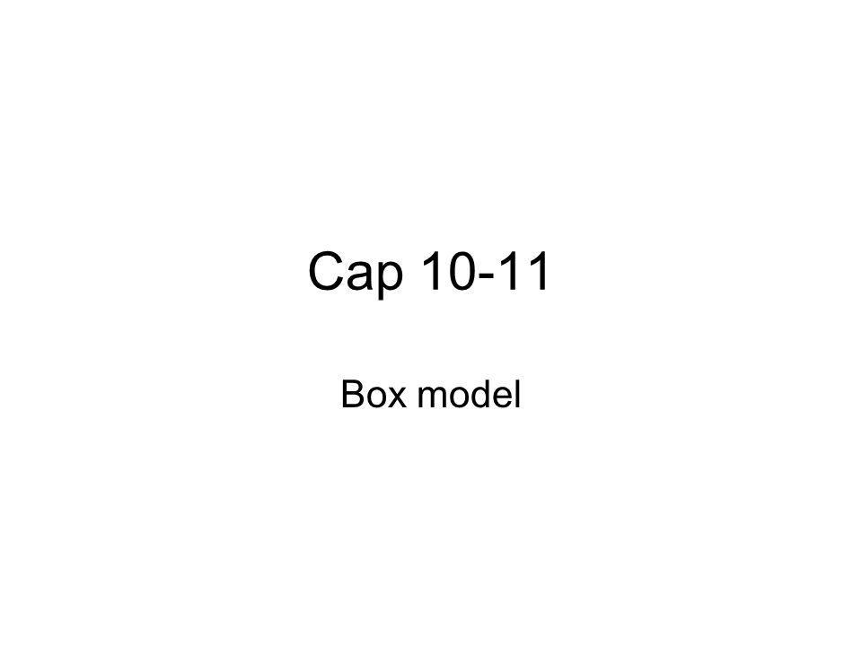 Cap 10-11 Box model