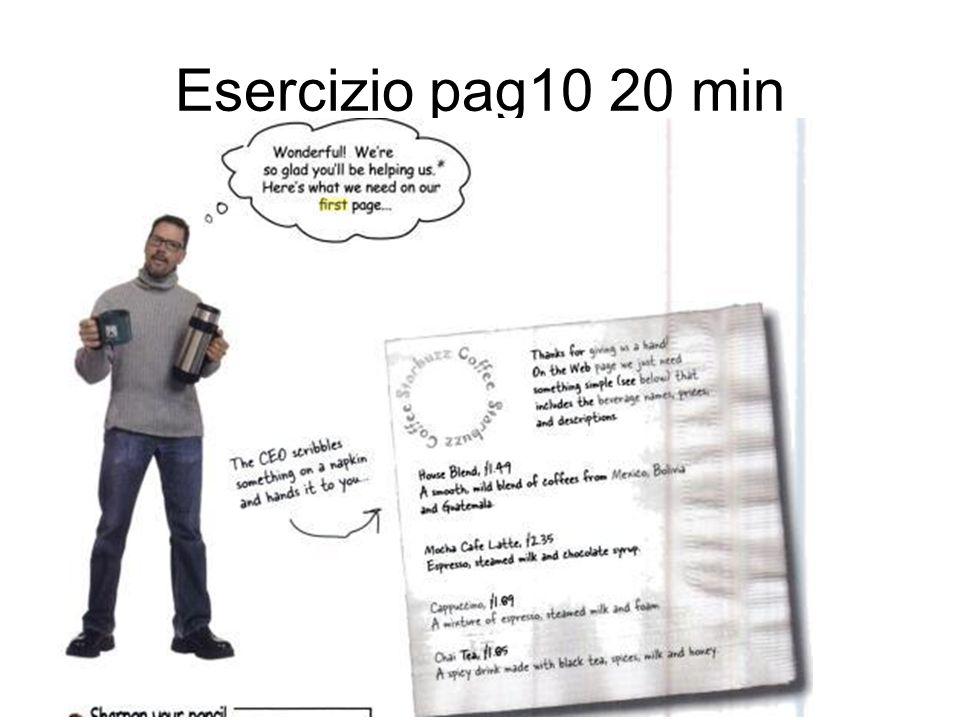 Esercizio pag10 20 min