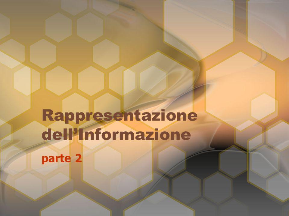 Rappresentazione dell'Informazione parte 2