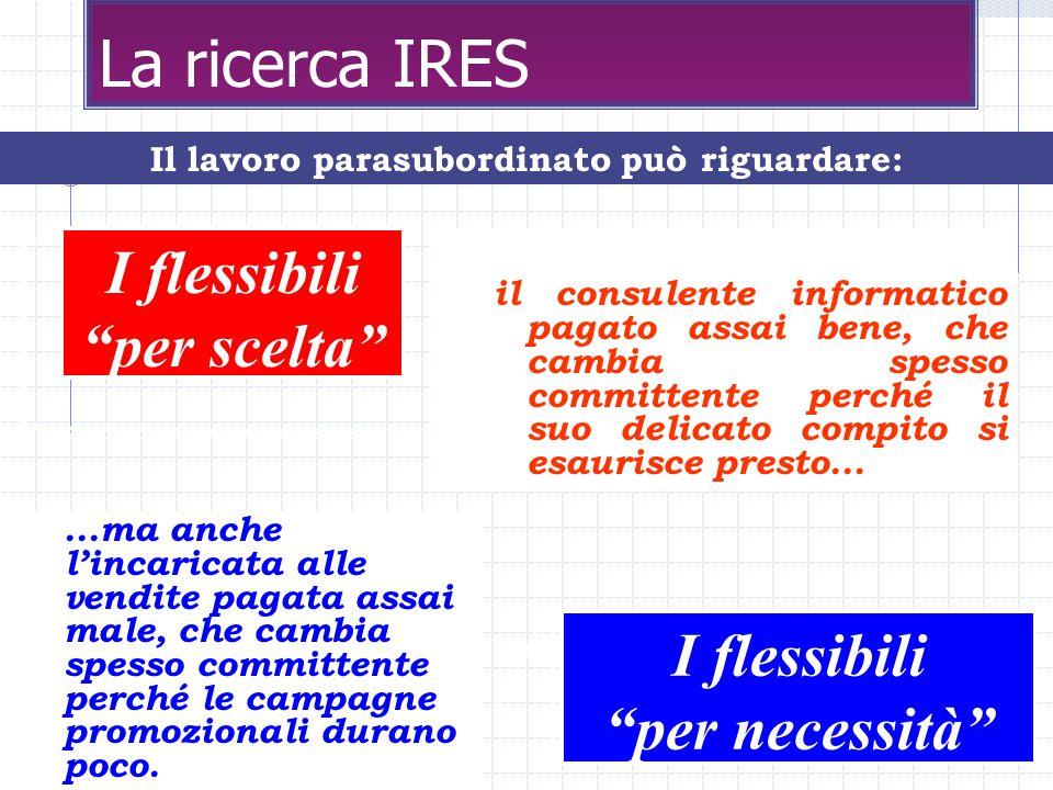 10 La ricerca IRES il consulente informatico pagato assai bene, che cambia spesso committente perché il suo delicato compito si esaurisce presto...
