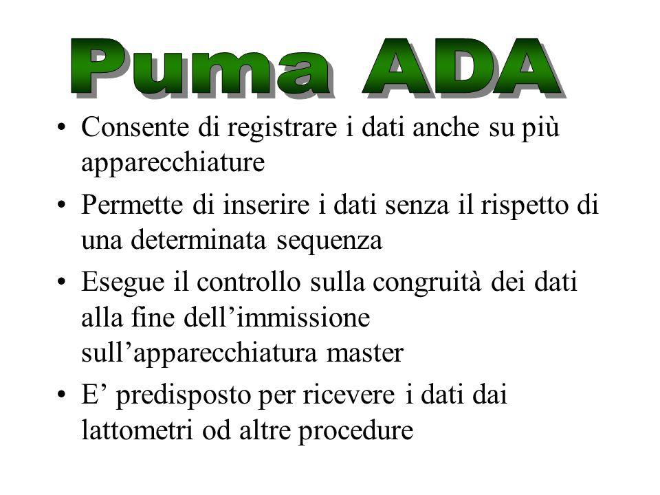 E' la naturale evoluzione di RADAMES per inserire i dati ed inviarli verso Puma-DB Esiste una versione per Palmare PSION ADA p ed una versione per PC
