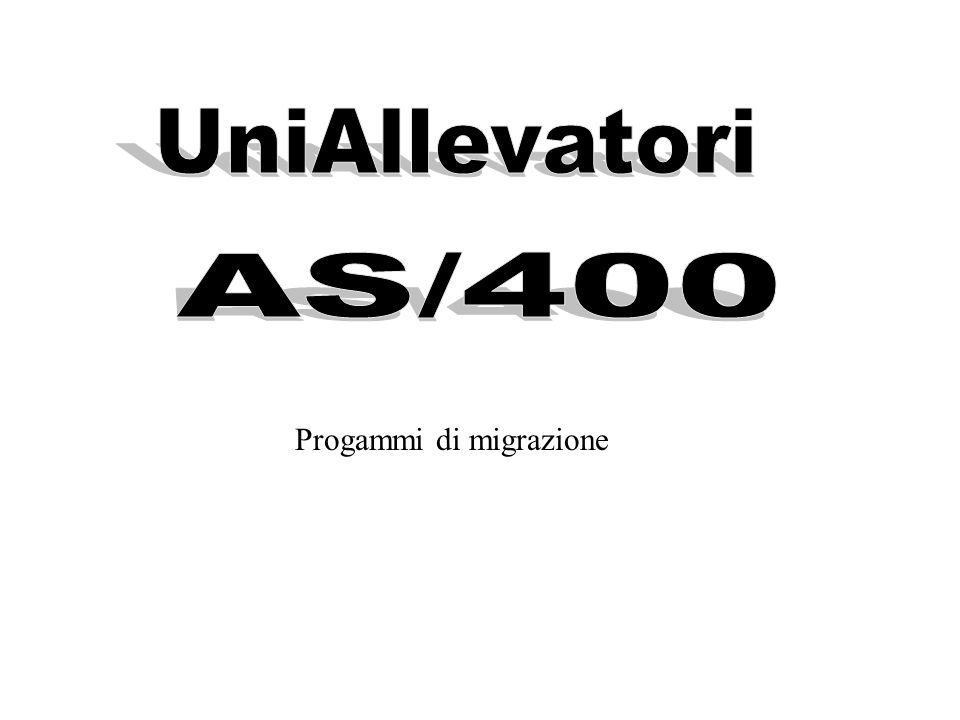 Programmi di migrazione per le procedure standard UniAllevatori