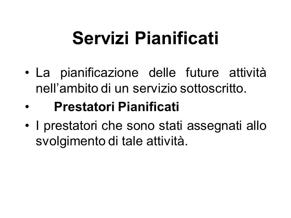 Servizi Sottoscritti La sottoscrizione da parte di un allevamento, di un produttore o di una persona di un servizio offerto da un'organizzazione Prest