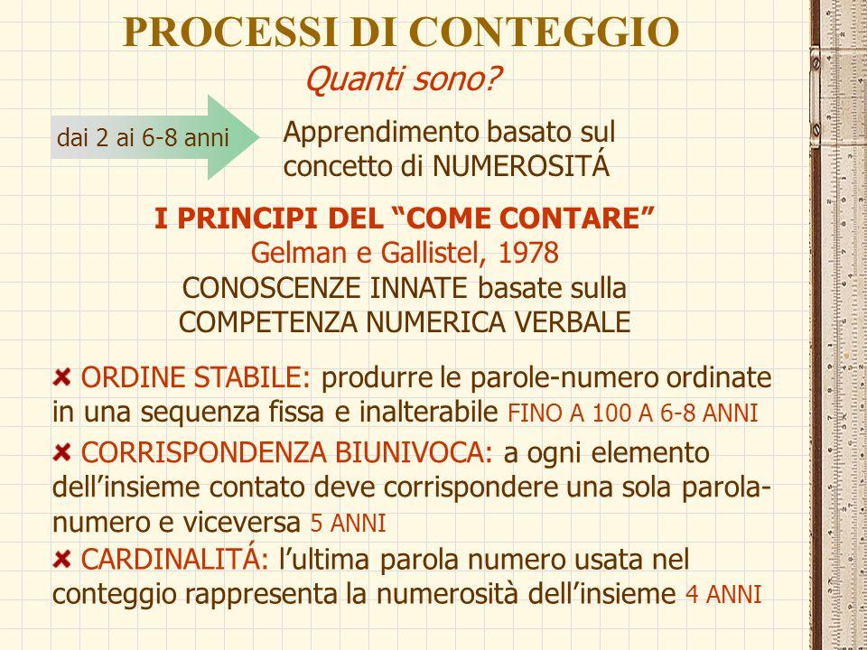 LE COMPONENTI DELL'ABILITÁ DI CALCOLO ARITMETICO