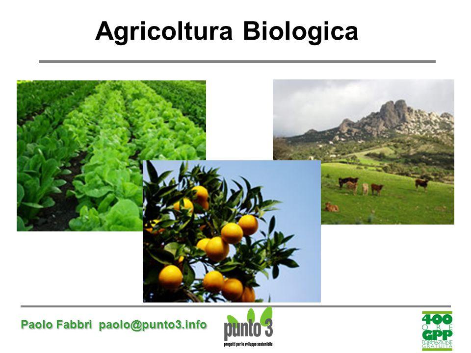Paolo Fabbri paolo@punto3.info Agricoltura Biologica
