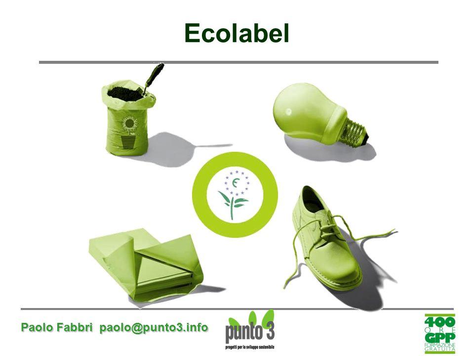 Paolo Fabbri paolo@punto3.info Ecolabel