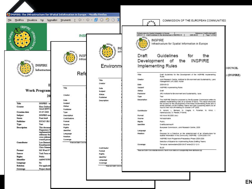 17/11/05Claudia Pegoraro ASITA  Proposta di Direttiva del Parlamento e del Consiglio Europeo (23 luglio 2004)  Obiettivo: stabilire un'infrastruttura per l'informazione di natura spaziale ad uso della Comunità Europea  Fase Preparatoria (2005-2006)  Fase di Trasposizione (2007-2008)  Fase di Implementazione (2009-2013)