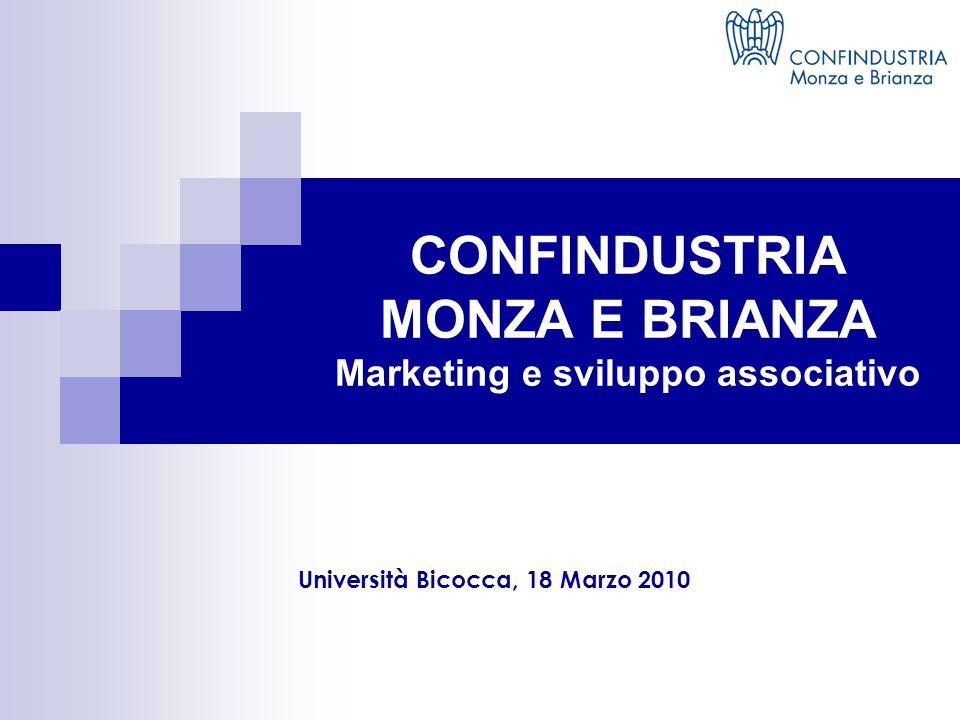 CONFINDUSTRIA MONZA E BRIANZA Marketing e sviluppo associativo Università Bicocca, 18 Marzo 2010