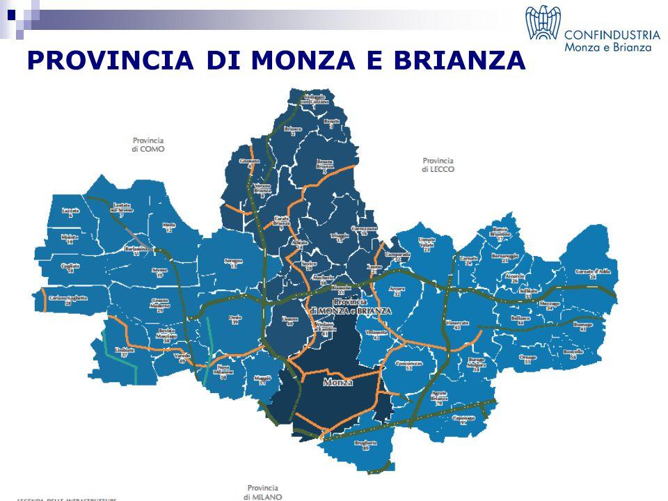 Confindustria Monza e Brianza fa parte del sistema Confindustria Aziende associate Numero di addetti 800 40.000 Rappresenta :