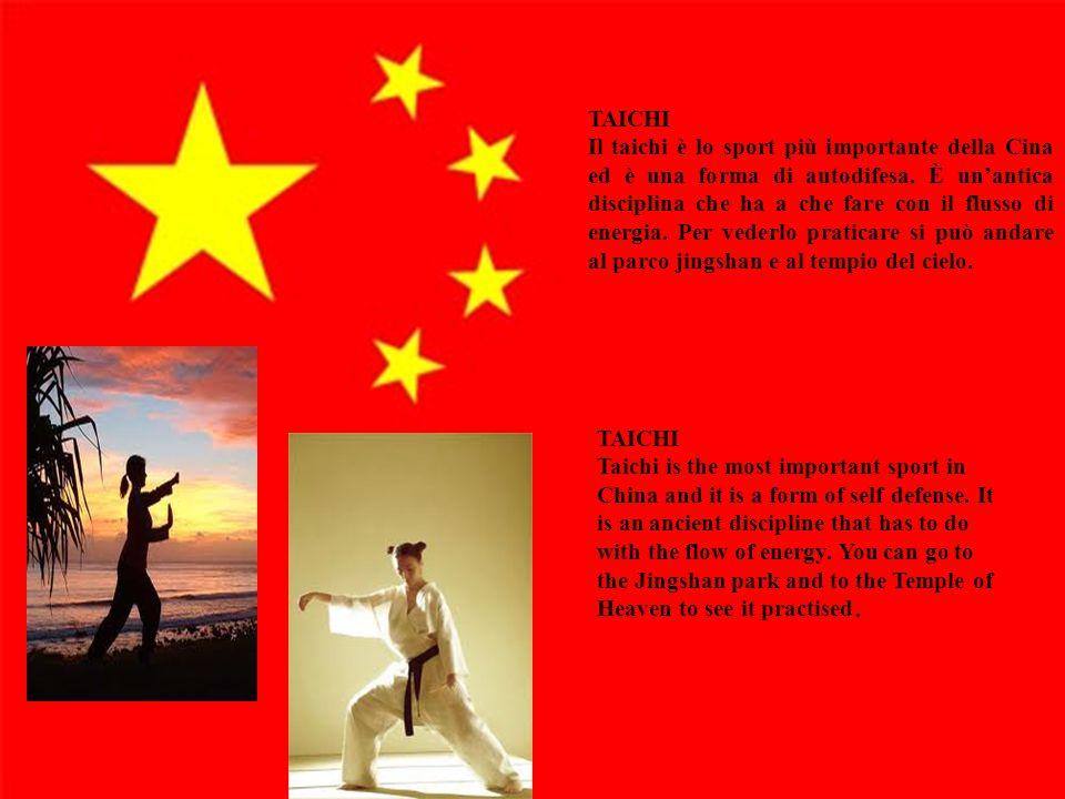 14 TAICHI Il taichi è lo sport più importante della Cina ed è una forma di autodifesa. È un'antica disciplina che ha a che fare con il flusso di energ
