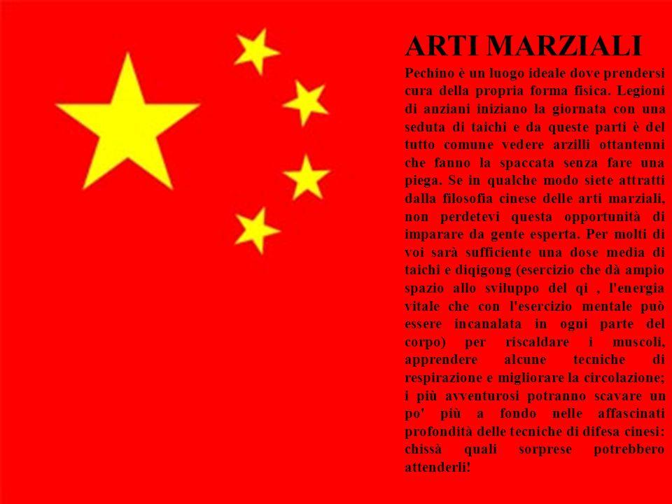 15 ARTI MARZIALI Pechino è un luogo ideale dove prendersi cura della propria forma fisica. Legioni di anziani iniziano la giornata con una seduta di t