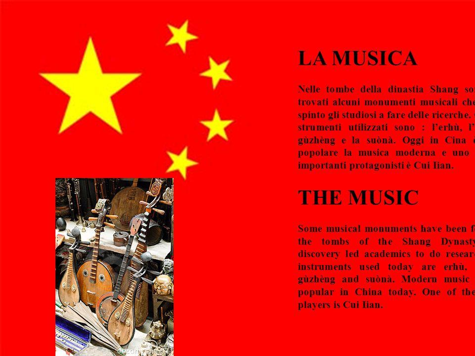 17 LA MUSICA Nelle tombe della dinastia Shang sono stati trovati alcuni monumenti musicali che hanno spinto gli studiosi a fare delle ricerche. Oggi g