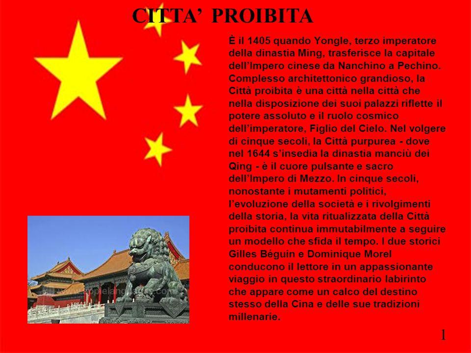 2 È il 1405 quando Yongle, terzo imperatore della dinastia Ming, trasferisce la capitale dell'Impero cinese da Nanchino a Pechino. Complesso architett