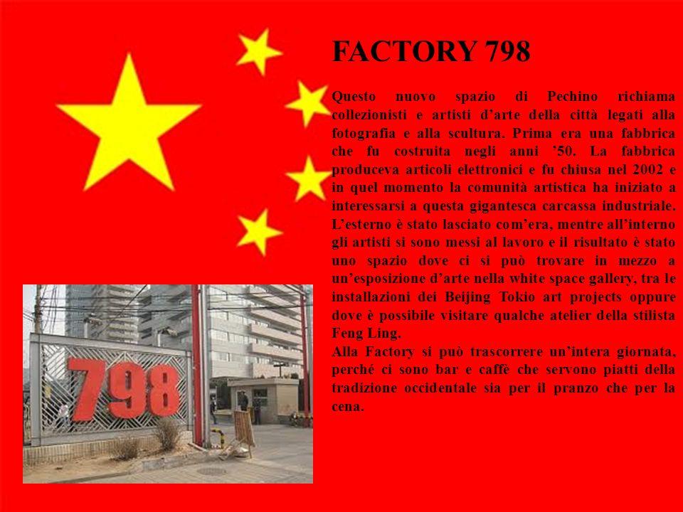 7 Secondo argomento Esposizione dell'argomento Ulteriori informazioni ed esempi Rilevanza per il pubblico FACTORY 798 Questo nuovo spazio di Pechino r