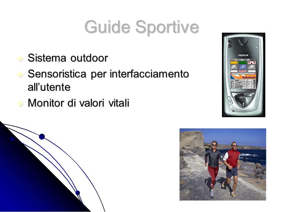 Guide Sportive Sistema outdoor Sistema outdoor Sensoristica per interfacciamento all'utente Sensoristica per interfacciamento all'utente Monitor di valori vitali Monitor di valori vitali