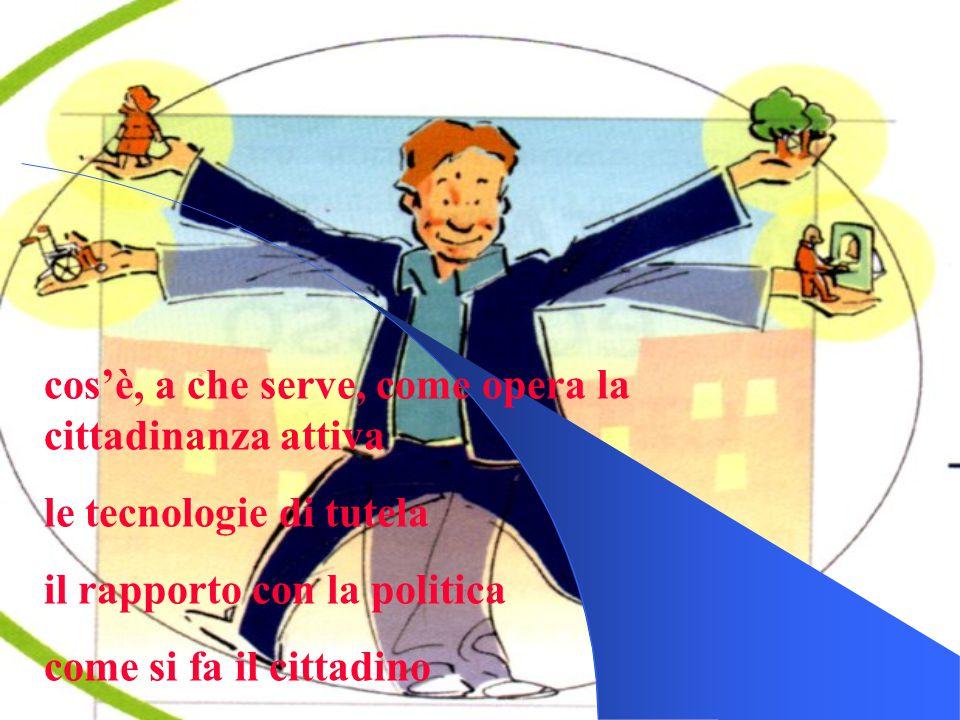 cos'è, a che serve, come opera la cittadinanza attiva le tecnologie di tutela il rapporto con la politica come si fa il cittadino