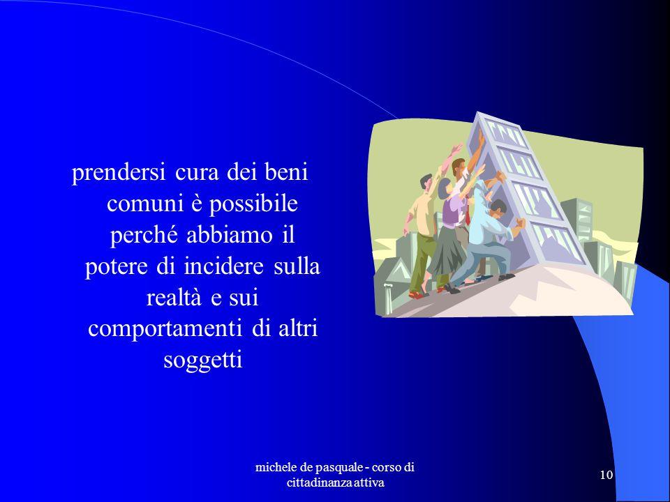 michele de pasquale - corso di cittadinanza attiva 9 a che serve la cittadinanza attiva.