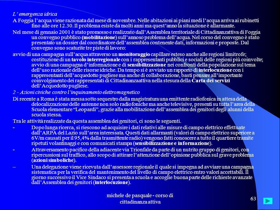 michele de pasquale - corso di cittadinanza attiva 62 Livorno I ferrovieri della tratta Livorno-Bologna chiedono la sostituzione di un locomotore sprovvisto di dispositivo di sicurezza.
