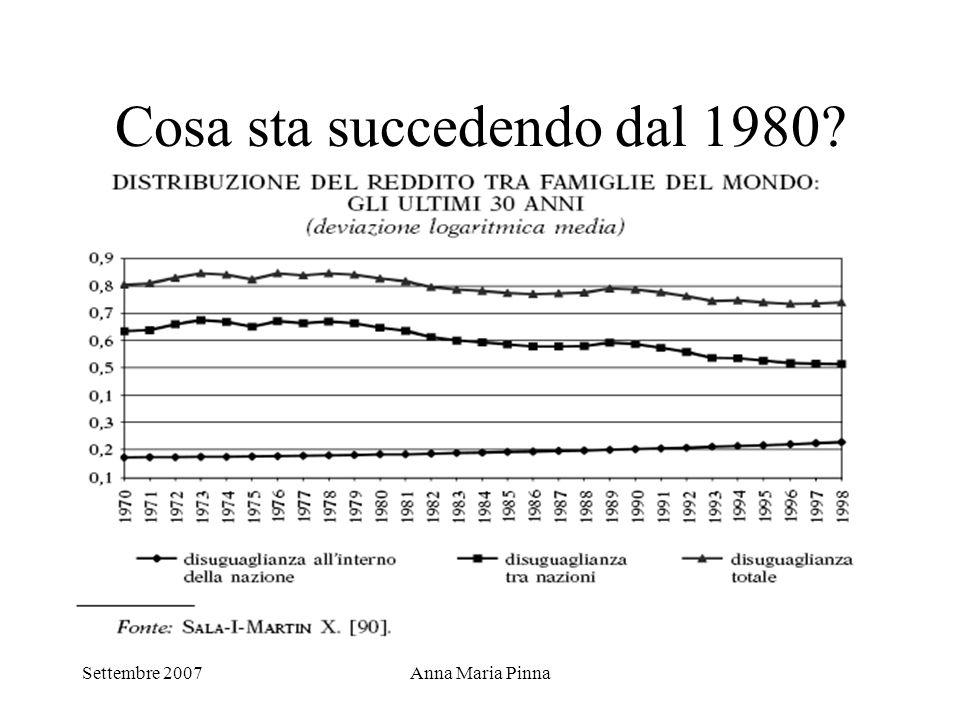 Settembre 2007Anna Maria Pinna Cosa sta succedendo dal 1980?