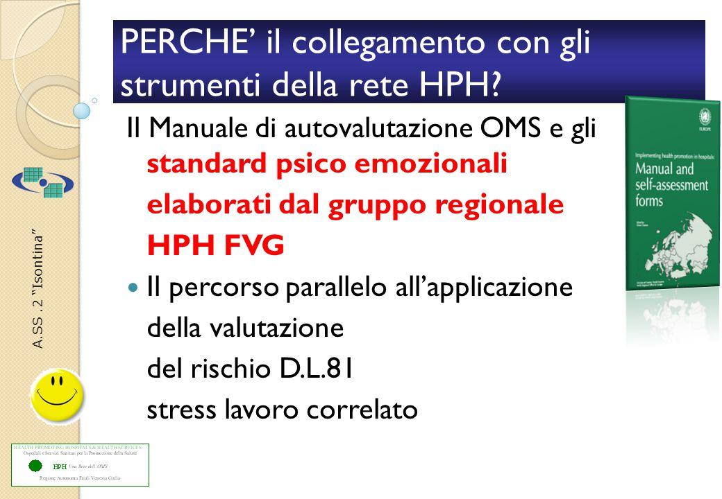 A.SS.2 Isontina PERCHE' il collegamento con gli strumenti della rete HPH.