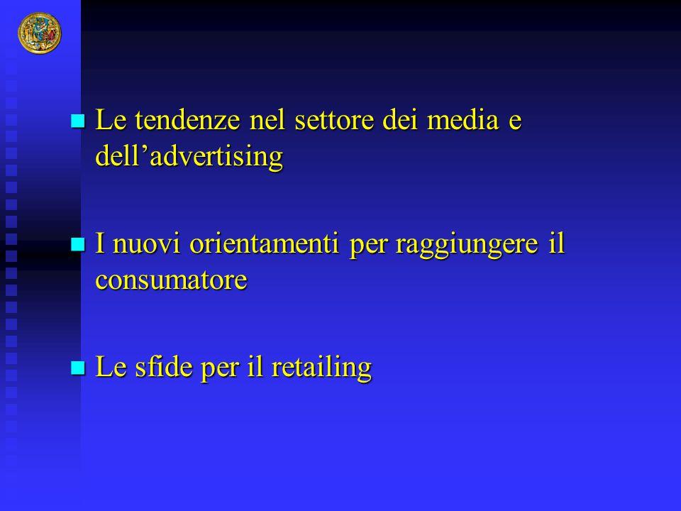 Le tendenze nel settore dei media e dell'advertising Le tendenze nel settore dei media e dell'advertising I nuovi orientamenti per raggiungere il cons