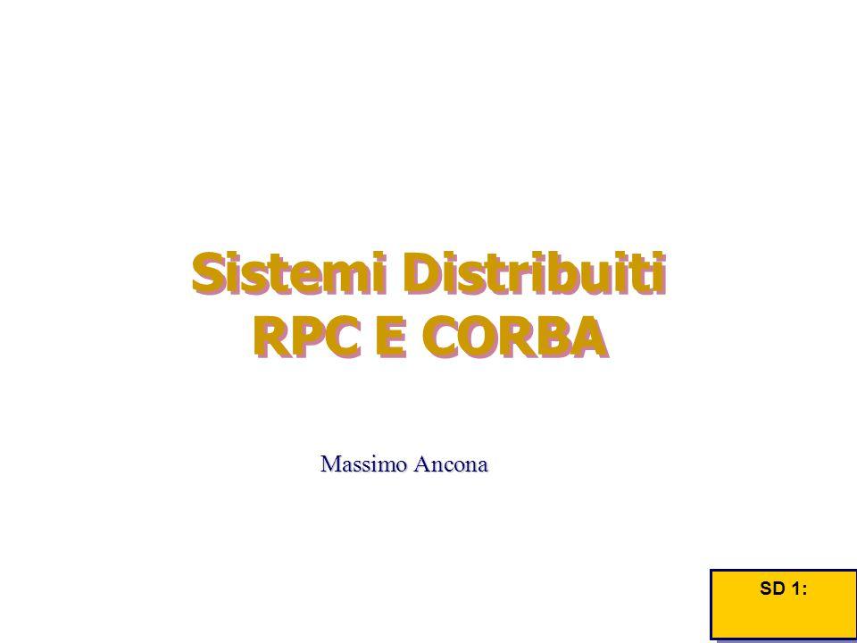 Massimo Ancona Sistemi Distribuiti RPC E CORBA SD 1: