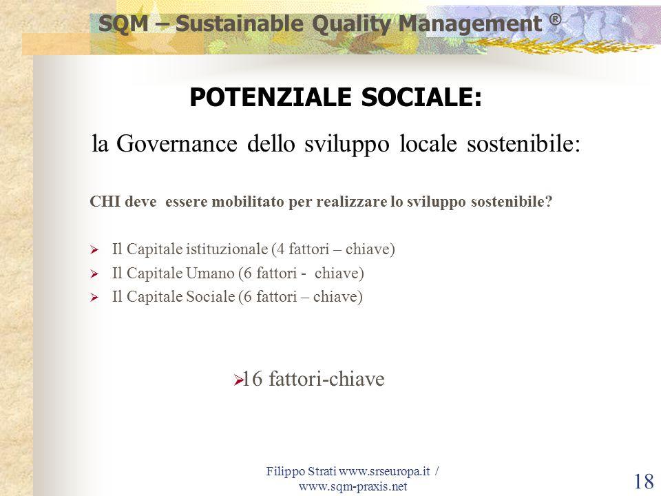 Filippo Strati www.srseuropa.it / www.sqm-praxis.net 18 CHI deve essere mobilitato per realizzare lo sviluppo sostenibile.