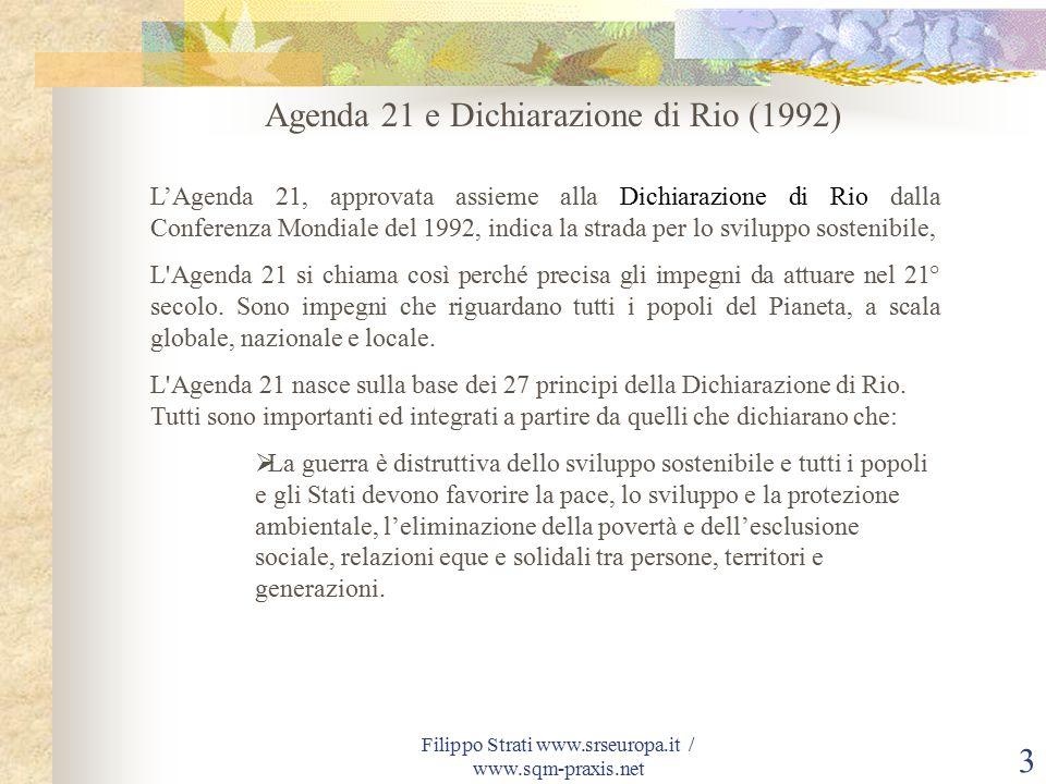 Filippo Strati www.srseuropa.it / www.sqm-praxis.net 24 Accesso tramite password su base volontaria.