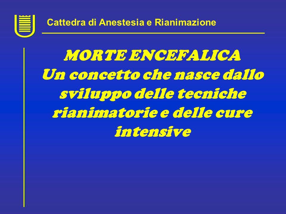 1959 Due medici francesi il supporto ventilatorio in un paziente in coma, areflessico, con EEG piatto permetteva di mantenere temporaneamente l'attività cardiaca spontanea.